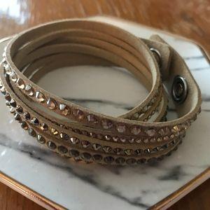 Swarovski Slake Wrap Bracelet Sand Light Tan